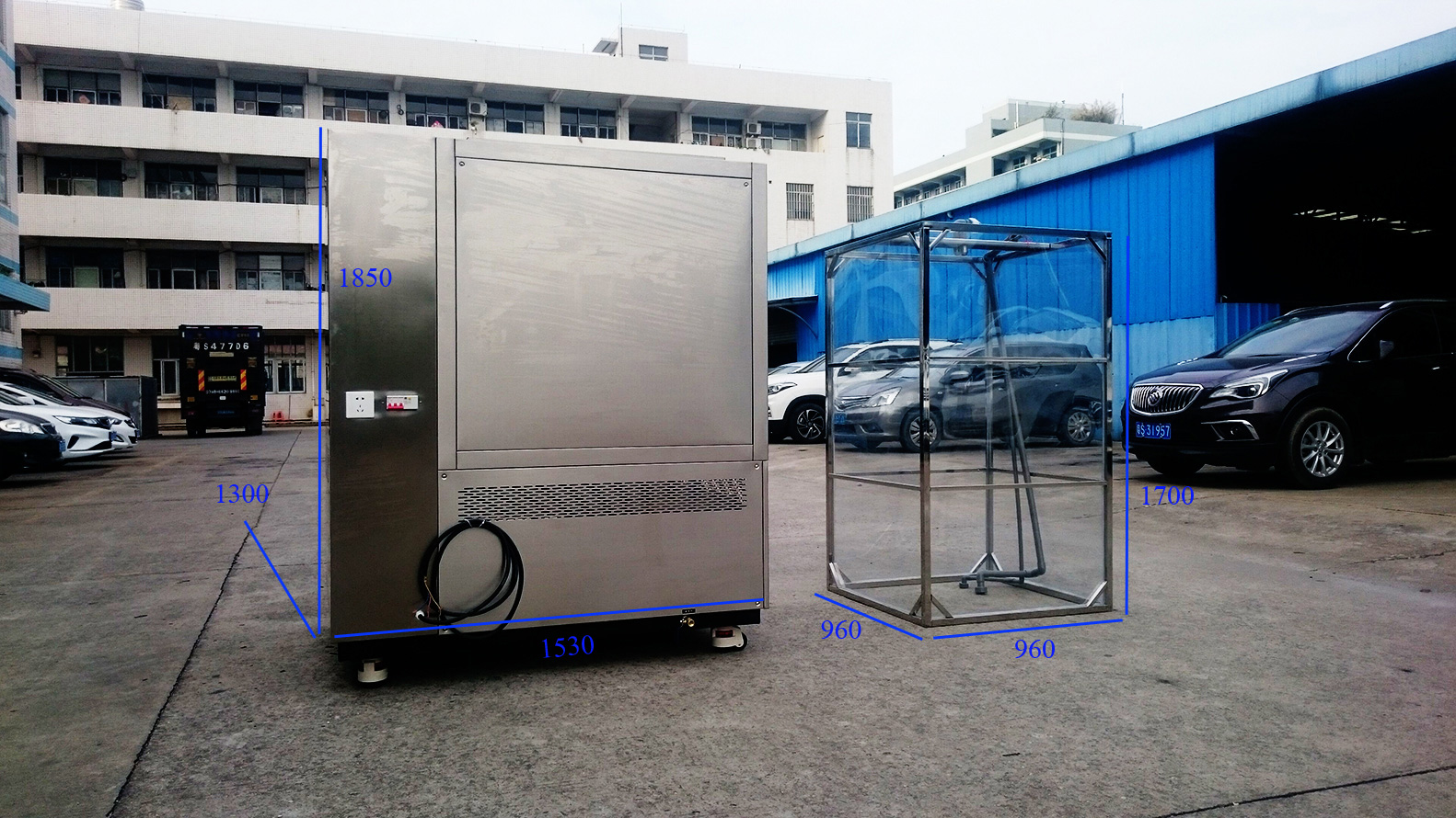 IP X3 X4 X5 X6 Rain Test Chamber Composite Design Solution